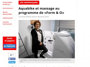 Aquabike et massage au programme de Form & O